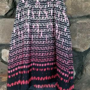 American Eagle Sz 10 Pink Ombre Print Dress w Pock